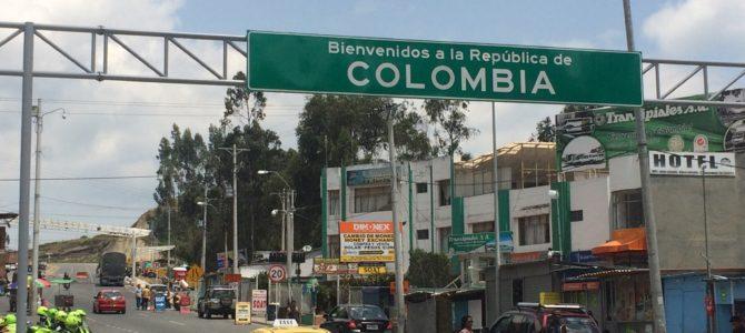 Passage de la frontière Equateur – Colombie au niveau de Tulcan – Ipiales